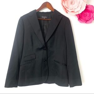 Brooks brothers blazer black size 8  100% wool